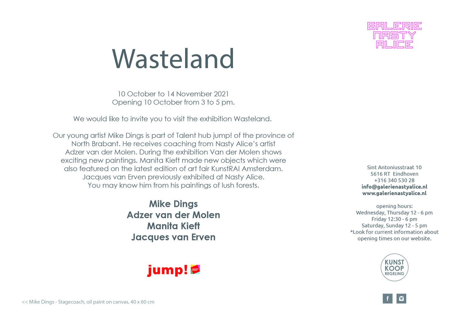 Flyer Wasteland achterzijde