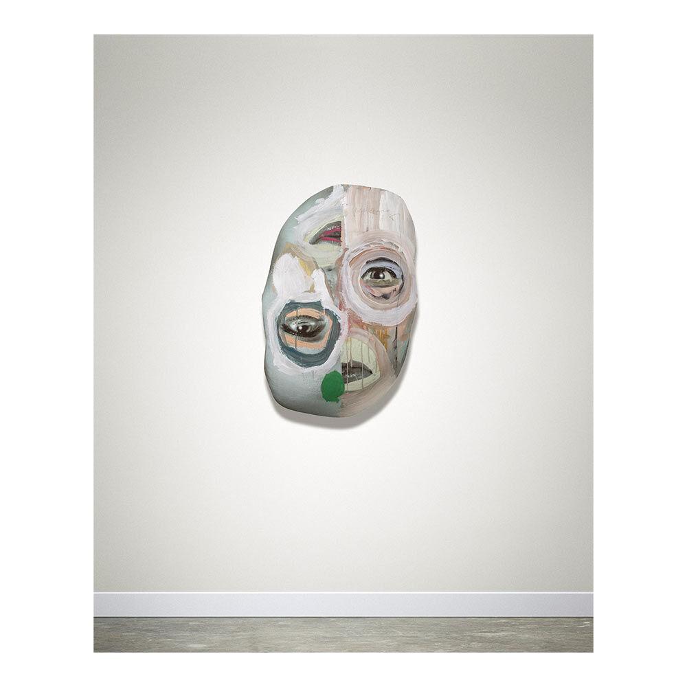 Rijkers & Blonk, Untitled, 81 x 52 cm, mixed media met draaibaar frame op de achterkant, 2020